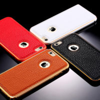 Top-Grade-Luxury-Real-Genuine-Leather-Metal-Hybrid-Case-For-Apple-iPhone-6-4-7-inch