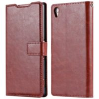 Brown-Z3-Cases-Luxury-Retro-Crazy-Horse-Skin-Leather-Flip-Phone-Case-Cover-For-Sony-Xperia-Z3