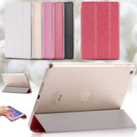Elegant-Clear-Ultra-Thin-Silk-Leather-Flip-Case-For-Apple-iPad-6-Air-2-Luxury-Smart (1)