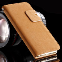 For-iPhone-5-5S-Mobile-Phone-Cases-Stand-Wallet-Design-Matte-PU-Leather-Flip-Case-Cover