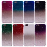 Gradient RainDrop Hard Plastic Case For iPhone 4 5 6 4.7 Plus 6 Slim Transparent Chrome Plastic 3D Rain Drop Water Dripping Smartphone