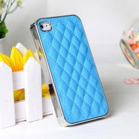 High-Quality-Fashion-Sheep-Skin-Grid-Pattern-PU-Leather-Case-For-iPhone-5-5S-Dirt-resistant (1)