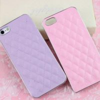 High-Quality-Fashion-Sheep-Skin-Grid-Pattern-PU-Leather-Case-For-iPhone-5-5S-Dirt-resistant