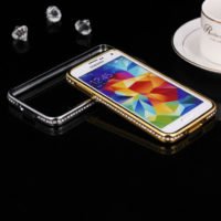 Luxury-Crystal-Rhinestone-Diamond-Bling-Bumper-Case-Cover-Metal-Phone-Frame-for-Samsung-galaxy-s5-i9600