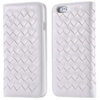 White-Fashion-Pastoral-Weave-Pattern-PU-Leather-Magnetic-Flip-Phone-Case-For-Apple-iPhone-6-4-7