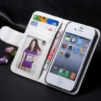 White-For-iPhone-5-5S-PU-Leather-Case-High-Quality-Stand-Wallet-Flip-Mobile-Phone-Case-Cover